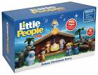 NEW Little People DELUXE Christmas Story NATIVITY SET Lights Up Star Trees Wagon