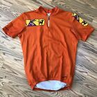 Giordana Short Sleeve Cycling Jersey Mens XL Orange Vintage