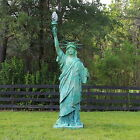 Statue of Liberty Big Sculpture Wired with Glass Flame Shade 110 Tall