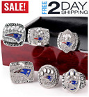 New England Patriots 6 Years Rings Set, Super Bowl 2019-2001 Championship