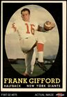 Frank Gifford Cards, Rookie Cards and Autographed Memorabilia Guide 4