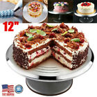 12 Aluminum Revolving Cake Turntable Decorating Kitchen Stand Baking Display US