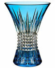 Waterford Lismore Diamond Sapphire 8 Vase Cased Crystal 161024 New In Box