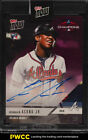 2018 Topps Now Purple Ronald Acuna Jr. ROOKIE RC AUTO 25 #PS-46C (PWCC)