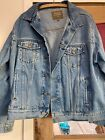 Vintage Haggar Clothing Co Mens Jean Jacket Size XL Made In India