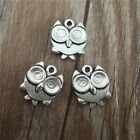Wholesale 6pcs Tibet silver Owl Necklace Charm Pendant beads Jewelry Making DIY
