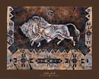 Spirit Of Wakan Tanka Art Print by Cecilia Henle Bison Buffalo Native American