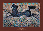 Winters Pony Art Print by Cecilia Henle Horse Blue Native American