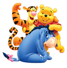 Pooh Tigger Eeyore Iron On Transfer 5 x 5 for LIGHT Colored Fabric