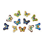 50Pcs Handmade Cloisonne Butterfly Beads Crafts Mixed Color 17x23x5mm Hole 2mm