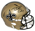 DREW BREES AUTOGRAPHED SIGNED NEW ORLEANS SAINTS FULL SIZE SPEED HELMET BECKETT