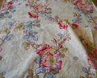 Antique French Wild Roses Floral Cotton Fabric 2 Pink Yellow Red Blue Green