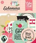 Echo Park FORWARD With FAITH Ephemera Die Cut Pieces 33pc FWF183024