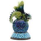 Green Dragon With LED Glass Optic Globe Figurine Statue 9H Resin New