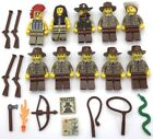 LEGO 10 NEW WESTERN COWBOY AND INDIAN MINIFIGURES NATIVE AMERICANS AND WEAPONS