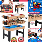 Family Sport Table 3 In 1 Multi Combo Game Foosball Soccer Billiards Pool Hockey