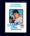 DWIGHT EVANS 2001 Topps Archives Rookie Reprint Autograph On Card Boston Red Sox