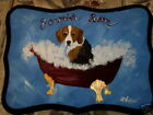 Beagle Dog Hand Painted Powder Room Bathroom Sign Plaque