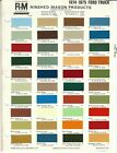 1974 AND 1975 FORD TRUCK VAN AND BRONCO PAINT CHIPS R M