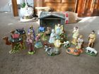 VTG BEAUTIFUL 18 PIECE CERAMIC NATIVITY SET STABLE RARE STANDING ANGEL JAPAN