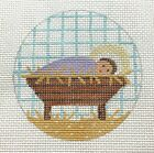 Hand Painted Nativity Baby Jesus Needlepoint Ornament Canvas