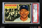 1956 Topps #135 Mickey Mantle Grey Back Yankees PSA 1 - POOR