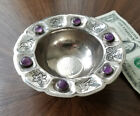 Old SANBORNS Mexican Sterling Silver Amethyst Footed Bowl Spratling Era 154g
