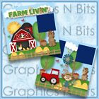 FARM LIVIN Printed Premade Scrapbook Pages
