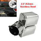 25 63mm Stainless steel Bent Car Dual Exhaust Tip Square Tail Pipe Muffler