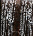 100PCS Lots 1mm Rolo Chain 16 18 20 22 22 24 inch Silver Plated Necklace