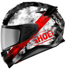 SHOEI RF 1200 Motorcycle Helmet Full Face Brawn TC 1 Mt Blk Wht Red X Large XL