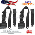 2 Universal 3 Point Retractable Seat Belts for Jeep CJ YJ Wrangler 1982-1995