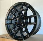 17x8 Matte Black Wheels Fit Toyota 4Runner Tacoma Pre Runner 6x139 +15 Rims Set