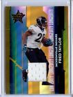 2006 Leaf Rookies and Stars Materials Longevity Gold #51 Fred Taylor Ser #29 250