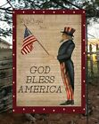 God Bless America Garden Flag  Top quality  Double Sided  By Flags Galore