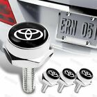 4x Car Security License Plate Frame Bolt Screw Nuts Fit Chevy Nismo Acura More
