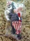 Disney Store Uncle Sam Goofy Beanie Plush 8 Inches New in Bag