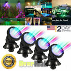 4x Multicolor Submersible 36LED RGB Pond Spot Lights Underwater Pool Fountain