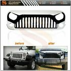 Front White Angry Bird Grill Grille For Jeep Wrangler 2007 2017 JK