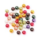 Wholesale Mixed Colour Acrylic Beads Plain Round 8mm Pearlised 20 Packs Of 100