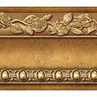 Flower Molding Peel And Stick Wall Border Easy To Apply Gold Brown Wallpaper