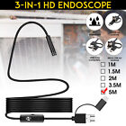 3in1 5m 7mm 6led Android Endoscope Waterproof Snake Borescope Inspection