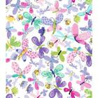 Suzy Bee Flutter Butterfly Dragonfly Pink Blue Green White Baby Quilt Fabric