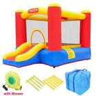 Inflatable Bounce House Slide Kids Jumper Castle 350W Blower Home Garden Yard