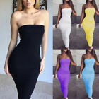 Sexy Women Off Shoulder Strapless Bodycon Summer Party Club Long Dress