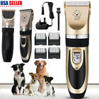 Electric Animal Pet Dog Cat Hair Trimmer Shaver Razor Grooming Quiet Clipper US