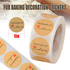 500Pcs Hand made with Love Thank you Stickers Seals Scrapbook DIY Lables  US