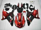 NTB Fit for Kawasaki 2006-2011 ZX14R ZZR1400 Red Black Injection Fairing Kit v0w