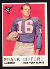 Frank Gifford Cards, Rookie Cards and Autographed Memorabilia Guide 20
