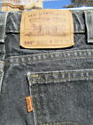 Retro Black LEVIS 550 Orange Tab Jeans 32x32 In Style with Tapered Legs